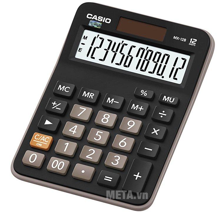 Máy tính Casio MX-12B có phím nhấn bằng cao su