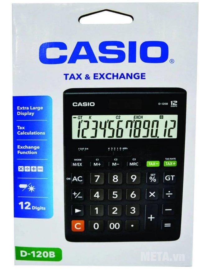 Mặt trước hộp đựng máy tính Casio D-120B