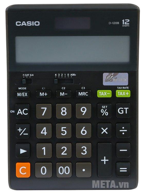 Máy tính để bàn Casio D-120B có bộ nhớ lưu trữ các thao tác trước đó của bạn