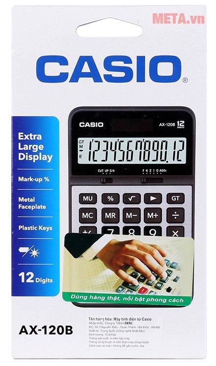 Hộp đựng máy tính bỏ túi Casio AX-120B