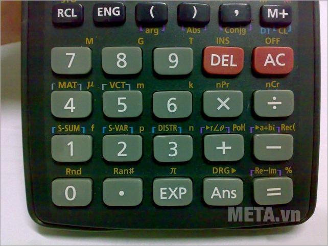 Máy tính bỏ túi Casio FX-570MS có bàn phím chắc chắn, linh hoạt