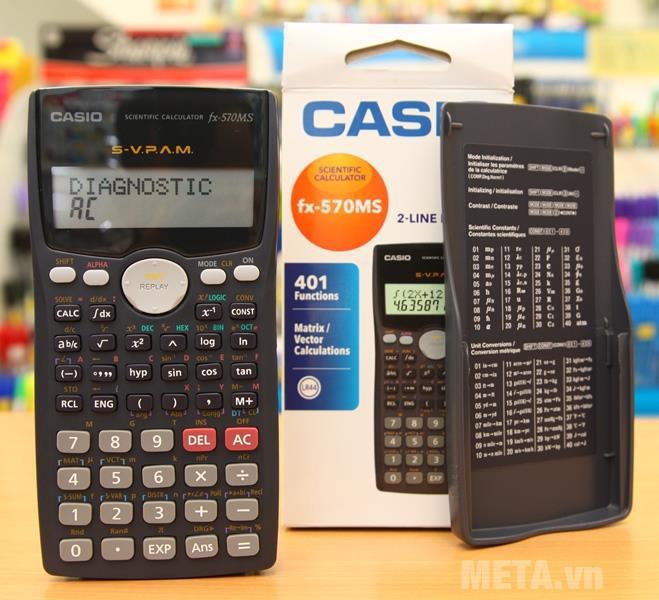 Máy tính bỏ túi Casio FX-570MS có khả năng tính toán nhiều phép tính phức tạp