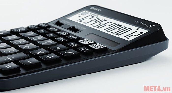 Máy tính để bàn Casio DJ-120D PLUS có vỏ máy bằng nhựa