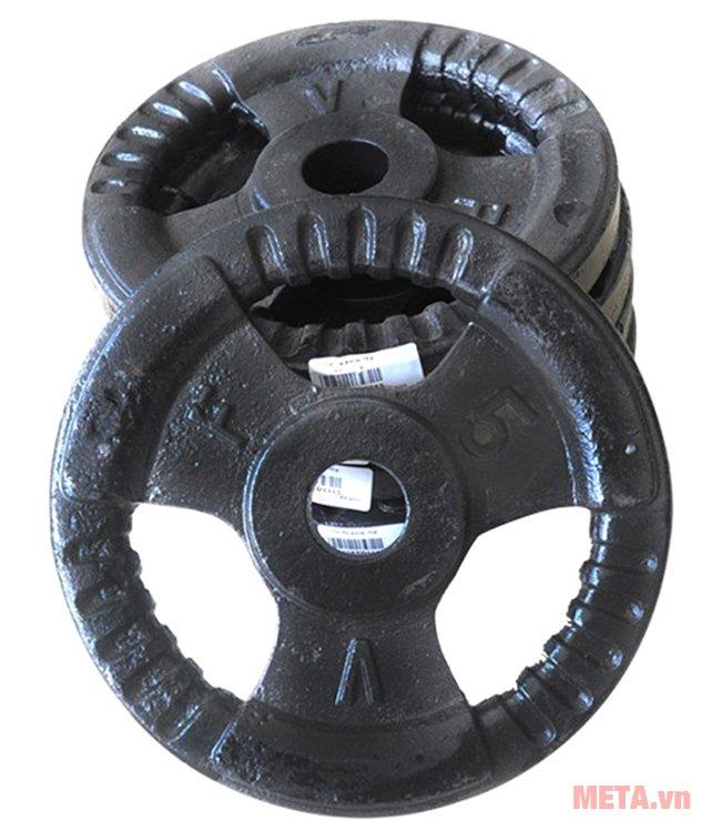 Tạ đĩa gang 5kg giúp tập tạ mỗi ngày tốt cho sức khỏe