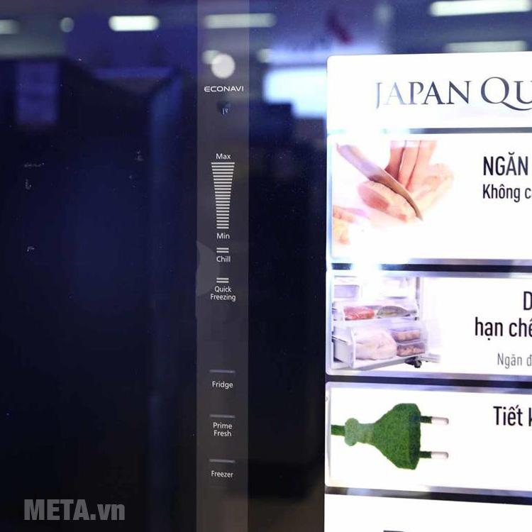 Bảng điều khiển điện tử dễ dàng theo dõi hoạt động của tủ lạnh