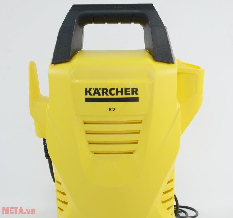 Máy rửa xe Karcher K2 Compact Car có logo hãng trên thân máy