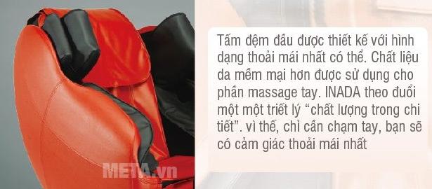 Ghế massage toàn thân Inada HCP-S878D sử dụng chất liệu bền đẹp và có thể dễ dàng vệ sinh