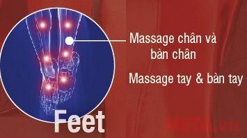Ghế massage toàn thân Inada S878D cho cả bàn tay và chân