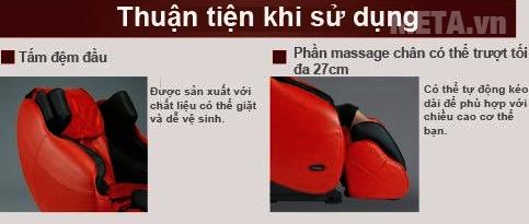 Ghế massage toàn thân Inada HCP-S878D thuận tiện sử dụng cho bất cứ ai