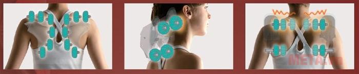 Ghế massage toàn thân Inada S878D với nhiều con lăn giúp xoa bóp làm giảm cơn đau nhanh chóng