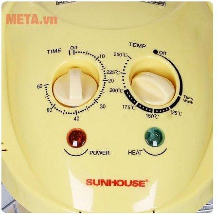 Lò nướng thủy tinh Sunhouse SH416 với bảng điều khiển tiện lợi