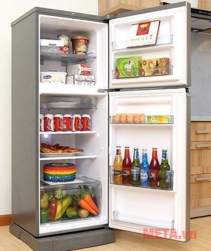 Tủ lạnh dung tích 188 lít phù hợp với gia đình 3-4 người