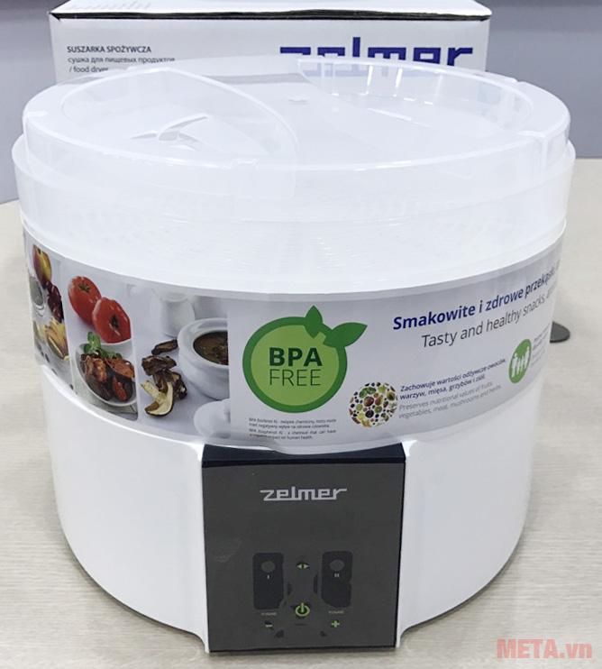 Máy sấy thực phẩm Zelmer ZFD2350W vệ sinh dễ dàng
