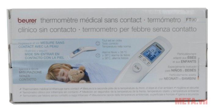 Nhiệt kế điện tử Beurer FT90 có hộp đựng bằng giấy bìa cứng