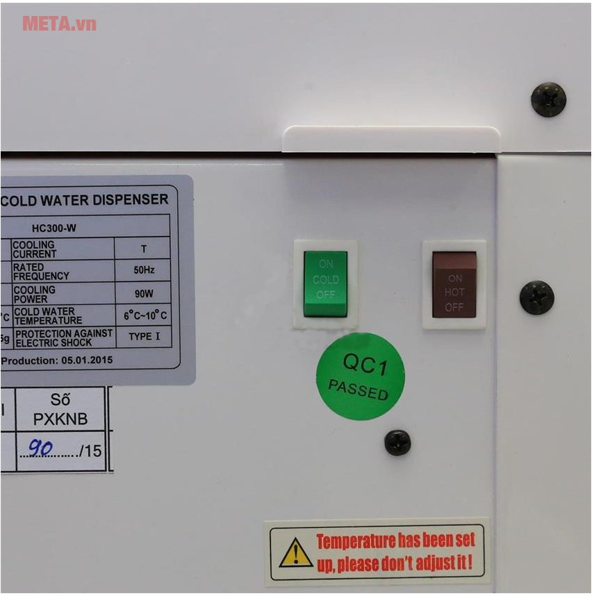 Cây nước nóng lạnh Karofi hút bình HC300-W dễ sử dụng