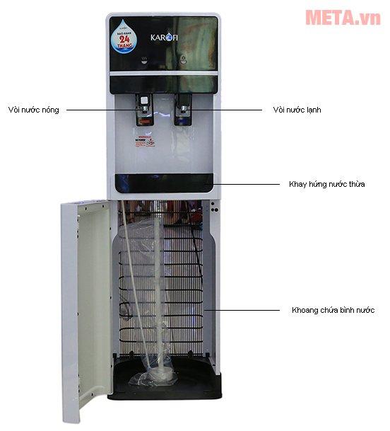 Cấu tạo cây nước uống nóng lạnh Karofi hút bình HC02-W