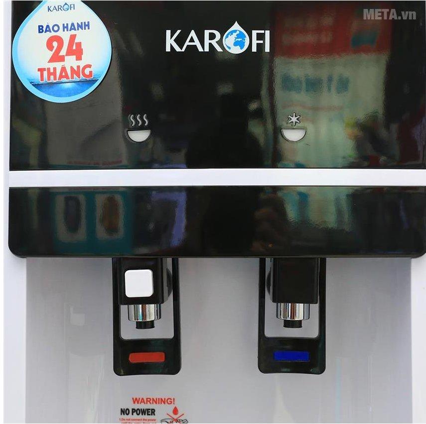 Cây nước uống nóng lạnh Karofi hút bình HC02-W có 2 vòi nóng lạnh