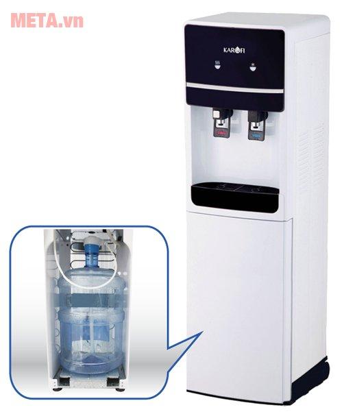 Cây nước uống nóng lạnh Karofi hút bình HC02-W