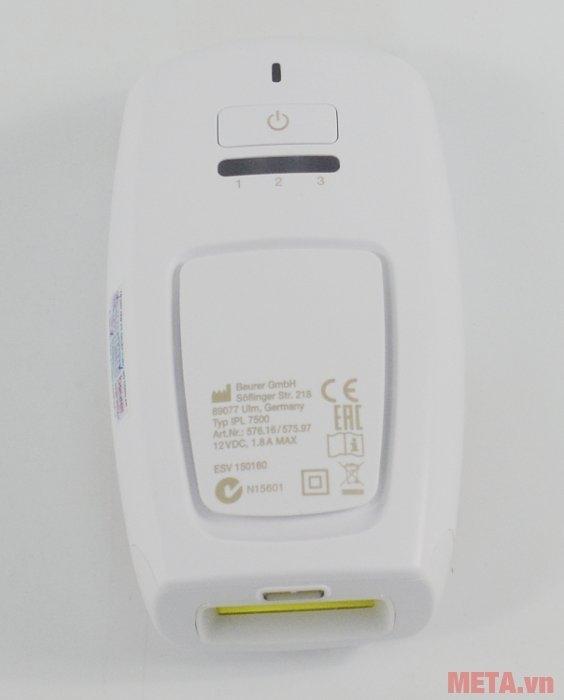 Máy triệt lông cá nhân Beurer IPL7500 có 3 mức cường độ ánh sáng