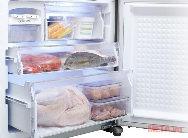 3 ngăn đông riêng biệt không làm lẫn mùi thực phẩm