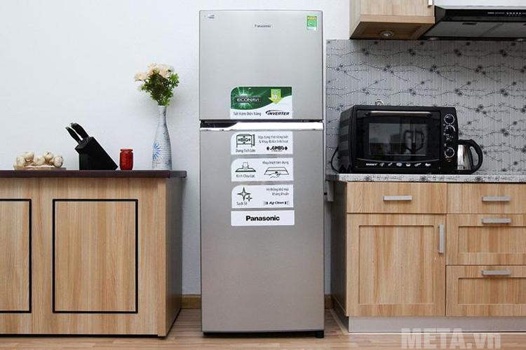 Tủ lạnh Panasonic NRBL268PSVN có thiết kế nhỏ gọn phù hợp với căn bếp nhà bạn