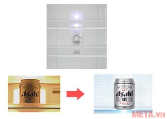Tủ lạnh Panasonic NRBL268PSVN có đèn led chiếu sáng