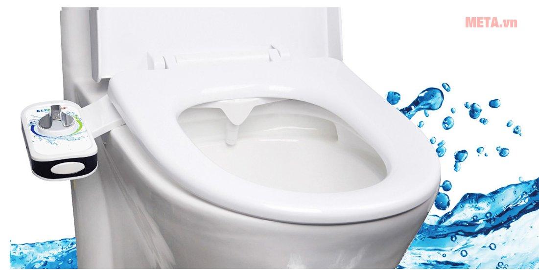 Thiết bị vệ sinh thông minh 1 vòi phun Kleenmac AB 100SCA-P dễ dàng lắp đặt