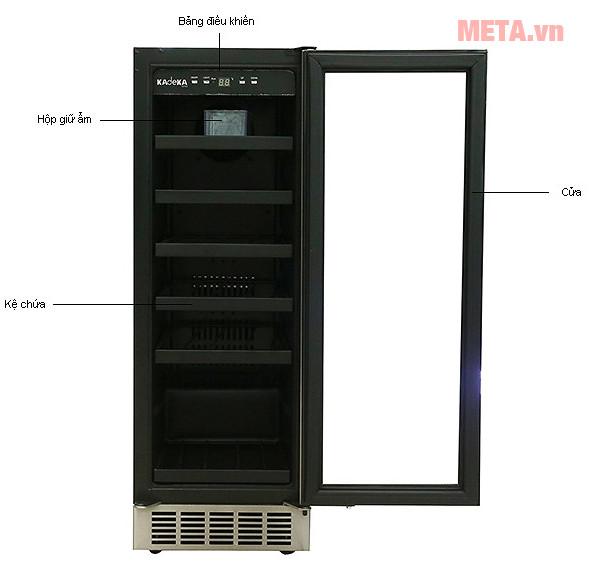 Thiết kế chi tiết tủ rượu Kadeka KA-24WR