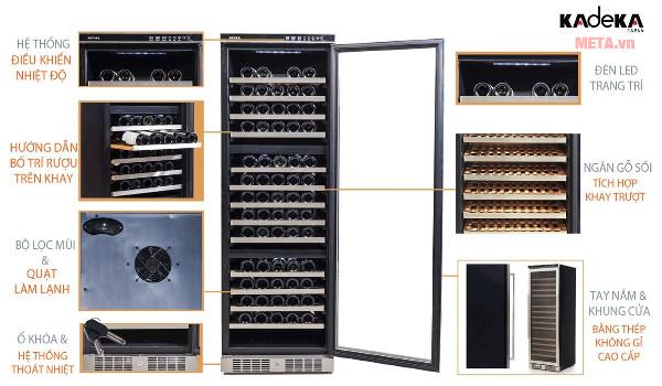 Thiết kế chi tiết tủ rượu Kadeka KA-143T