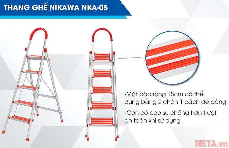 Thang ghế 5 bậc Nikawa NKA05 màu đỏ