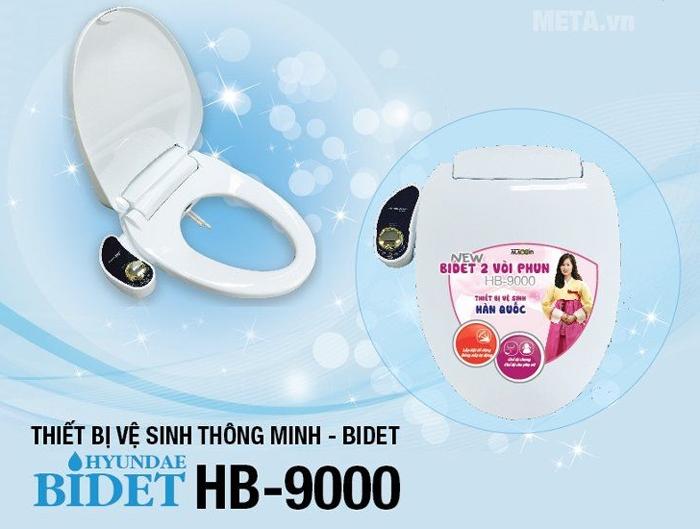 Thiết bị vệ sinh Hyundae Bidet có 2 vòi phun, không dùng điện, có chế độ rửa lạnh
