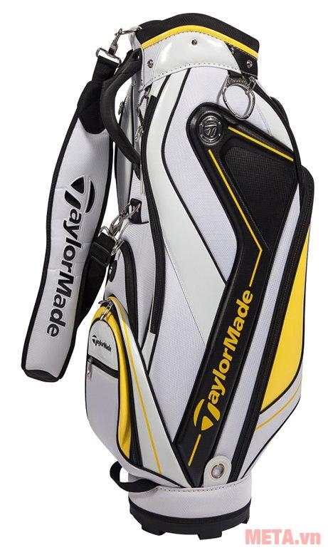 Túi golf nam TaylorMade Curve 5.0 (B78542) màu trắng vàng
