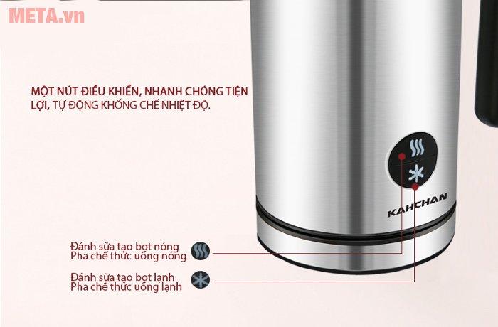 Kích thước máy đánh sữa tạo bọt Kahchan EP2188 dễ dàng điều chỉnh