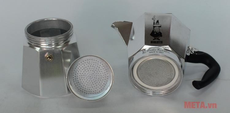 Cấu tạo ấm pha cà phê Bialetti Moka Express 6TZ BCM-1163
