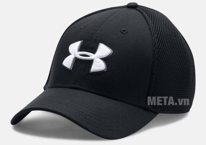 Mũ golf nam Mesh Stretch 2.0 Cap Under Armour 1273280 màu Black/White