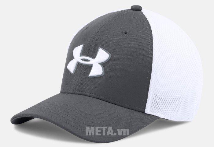 Mũ golf nam Mesh Stretch 2.0 Cap Under Armour 1273280 màu Graphite/White