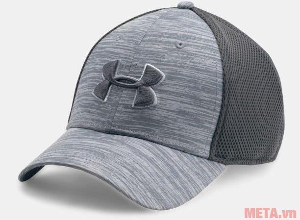 Mũ golf nam Mesh Stretch 2.0 Cap Under Armour 1273280 màu Overcast Gray