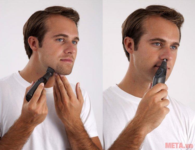 Máy cạo râu 3 trong 1 Lanaform LA131102 giúp nam giới cạo râu và cắt tỉa lông mũi an toàn
