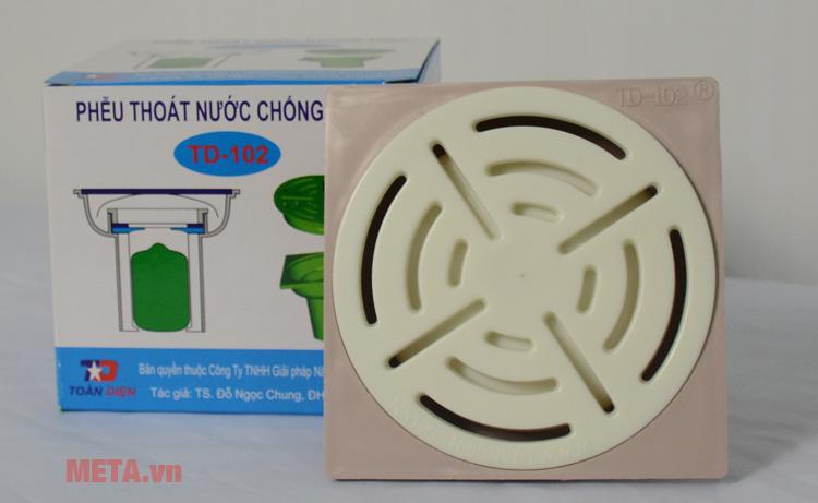 Phễu thoát nước chống tràn, chống mùi TD-102 bằng nhựa cao cấp