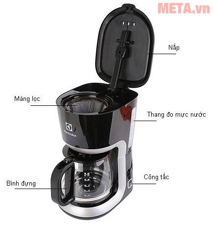 Cấu tạo máy pha cà phê Electrolux ECM3505