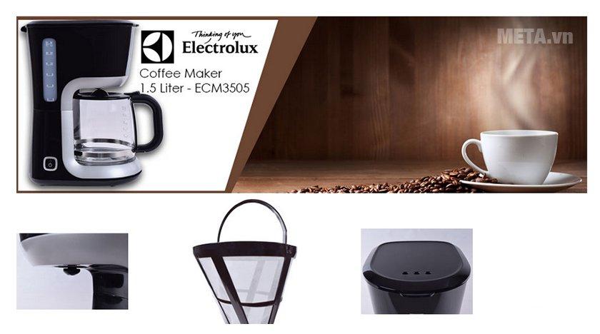 Máy pha cà phê Electrolux ECM3505 có thiết kế tiện lợi