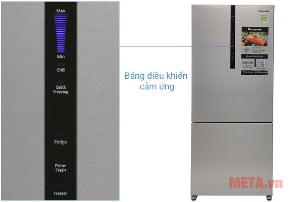 Tủ lạnh Panasonic 363 lít NR-BX418XSVN sử dụng bảng điều khiển cảm ứng