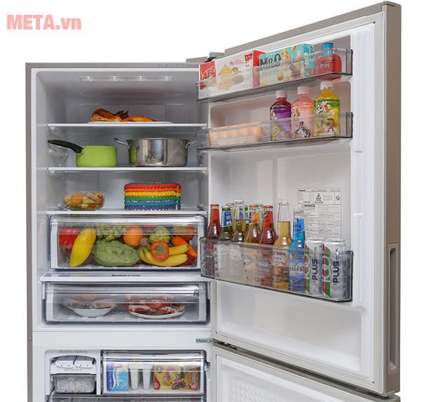 Tủ lạnh Panasonic 363 lít NR-BX418XSVN có dung tích ngăn mát 253 lít