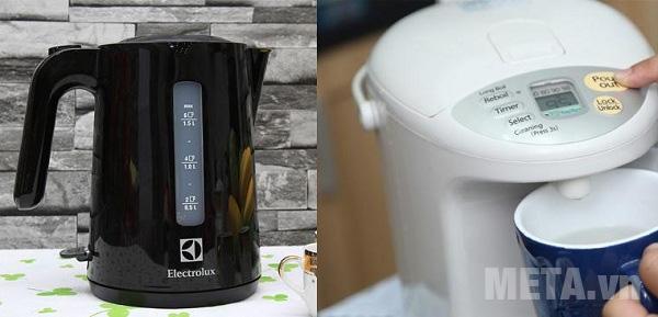 Ấm siêu tốc và bình thủy điện nên chọn loại nào?