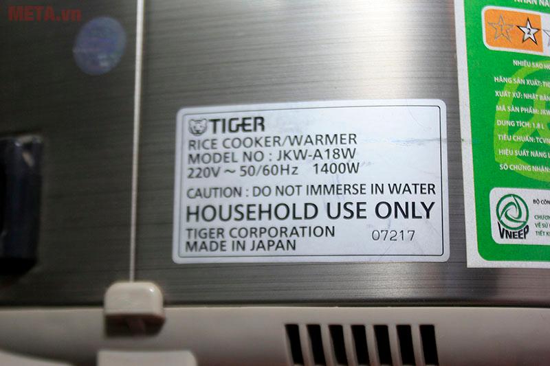 Từng hạt cơm dẻo ngon với nồi cơm điện tử cao tần Tiger JKW-A18W 1.8 lít