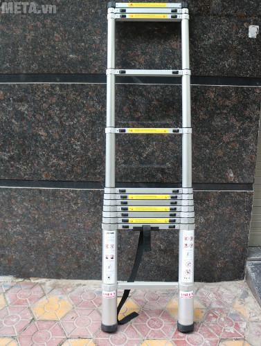 Thang nhôm xếp đơn đai nhôm AMC-380D