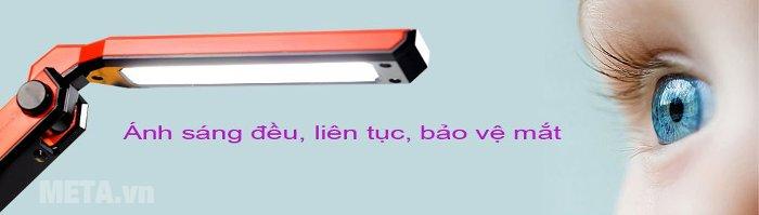 Đèn bàn Led Hàn Quốc đổi màu Prism M-08RD cho ánh sáng ra đều, liên tục bảo vệ mắt
