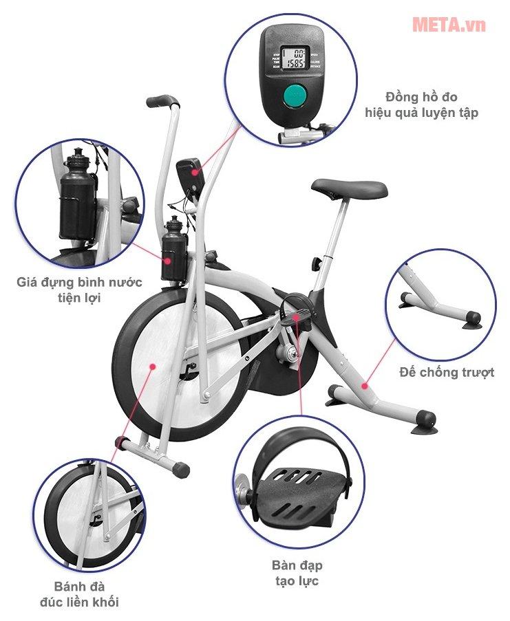 Cấu tạo xe đạp tập thể dục Air Bike