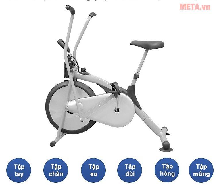 Xe đạp tập thể dục Air Bike giúp luyện tập hiệu quả