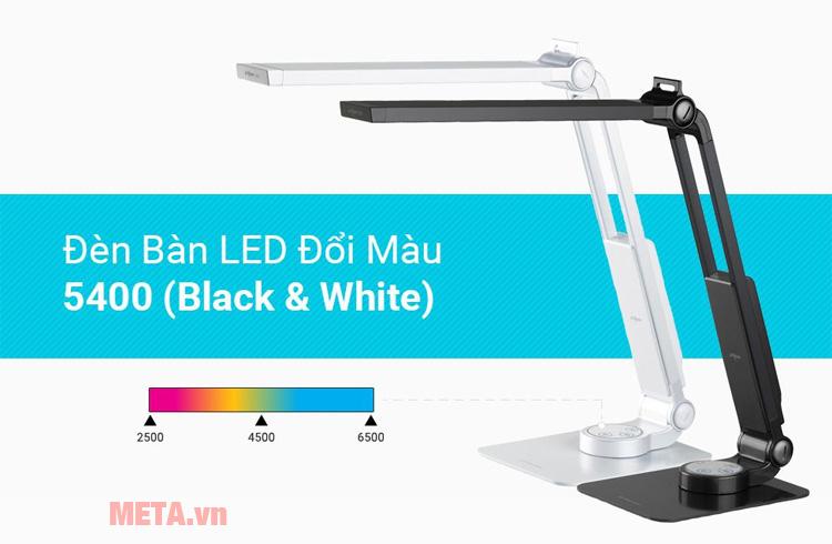Đèn bàn led Hàn Quốc đổi màu Prism 5400CB có nhiều chế độ sáng cho bạn tùy ý đổi màu
